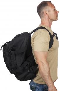 Отличный черный рюкзак с шевроном Рыболовных войск купить оптом