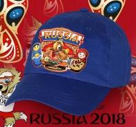 Отменная хлопковая бейсболка Russia с неповторимым принтом «Русский мишка с Матрешками». Такой сувенир с национальными символами можно купить только у нас