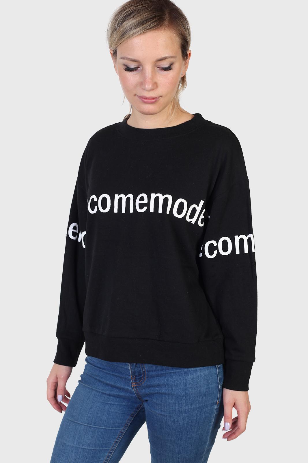 Черный женский оверсайз свитер Sunblaze