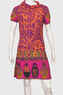 Озорное молодежное платье с коротким рукавом