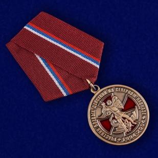 Памятная медаль Участник боевых действий на Северном Кавказе - общий вид