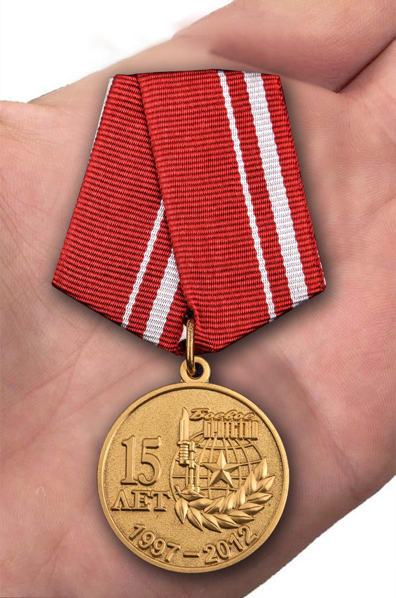 Памятная медаль Боевое братство. 15 лет - вид на ладони