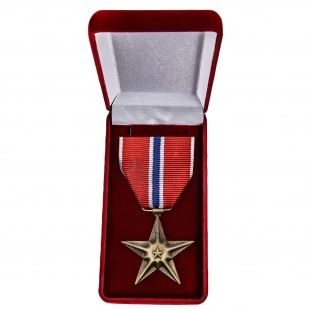 Памятная медаль Бронзовая звезда (США) - в футляре