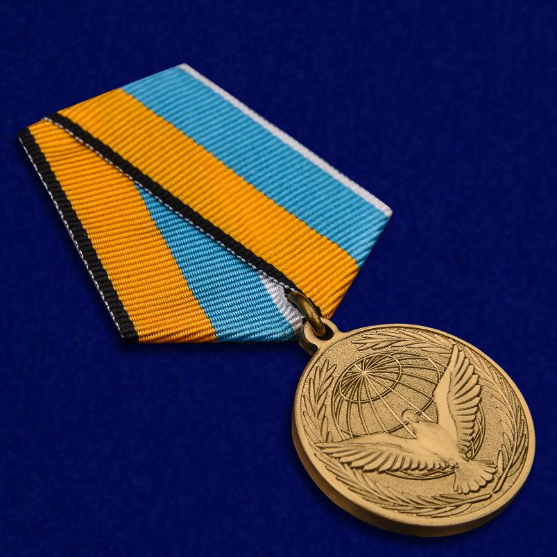 Памятная медаль Участнику миротворческой операции - общий вид