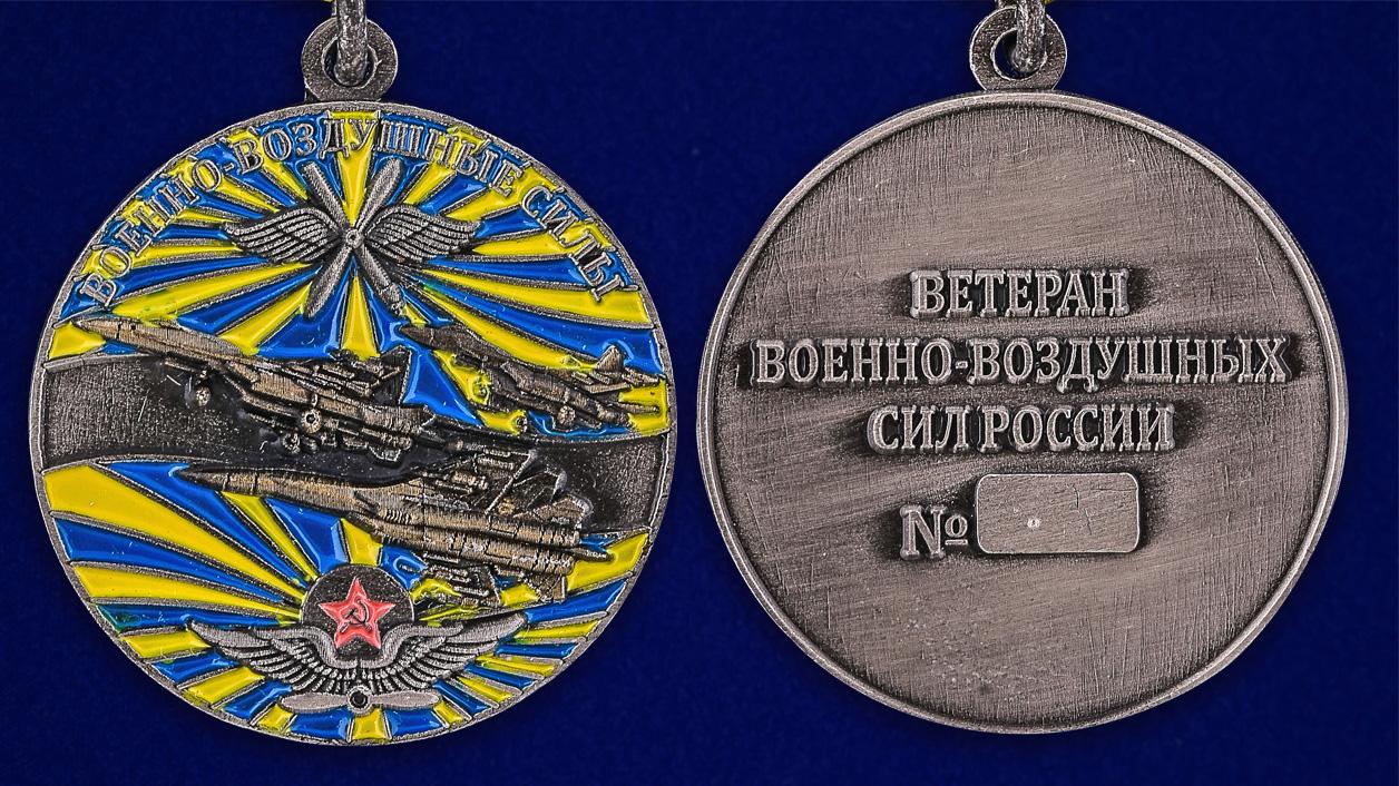 Памятная медаль Ветеран ВВС - аверс и реверс