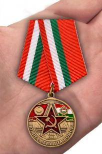 Памятная медаль Южная группа войск - вид на ладони