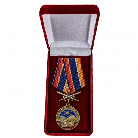 Памятная медаль За службу в РВСН - в футляре