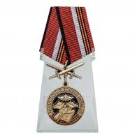 Памятная медаль За службу в Танковых войсках на подставке
