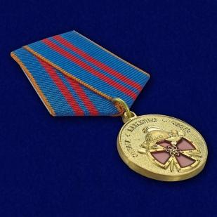 Памятная медаль За вклад в пожарную безопасность государственных объектов - общий вид