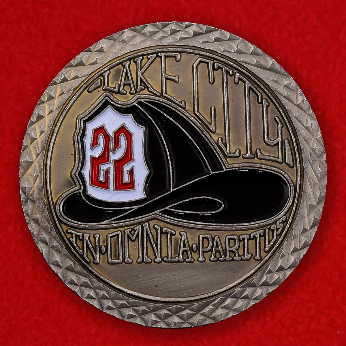 """Памятная монета """"22 Пожарная станция округа Пирс, штат Вашингтон"""""""