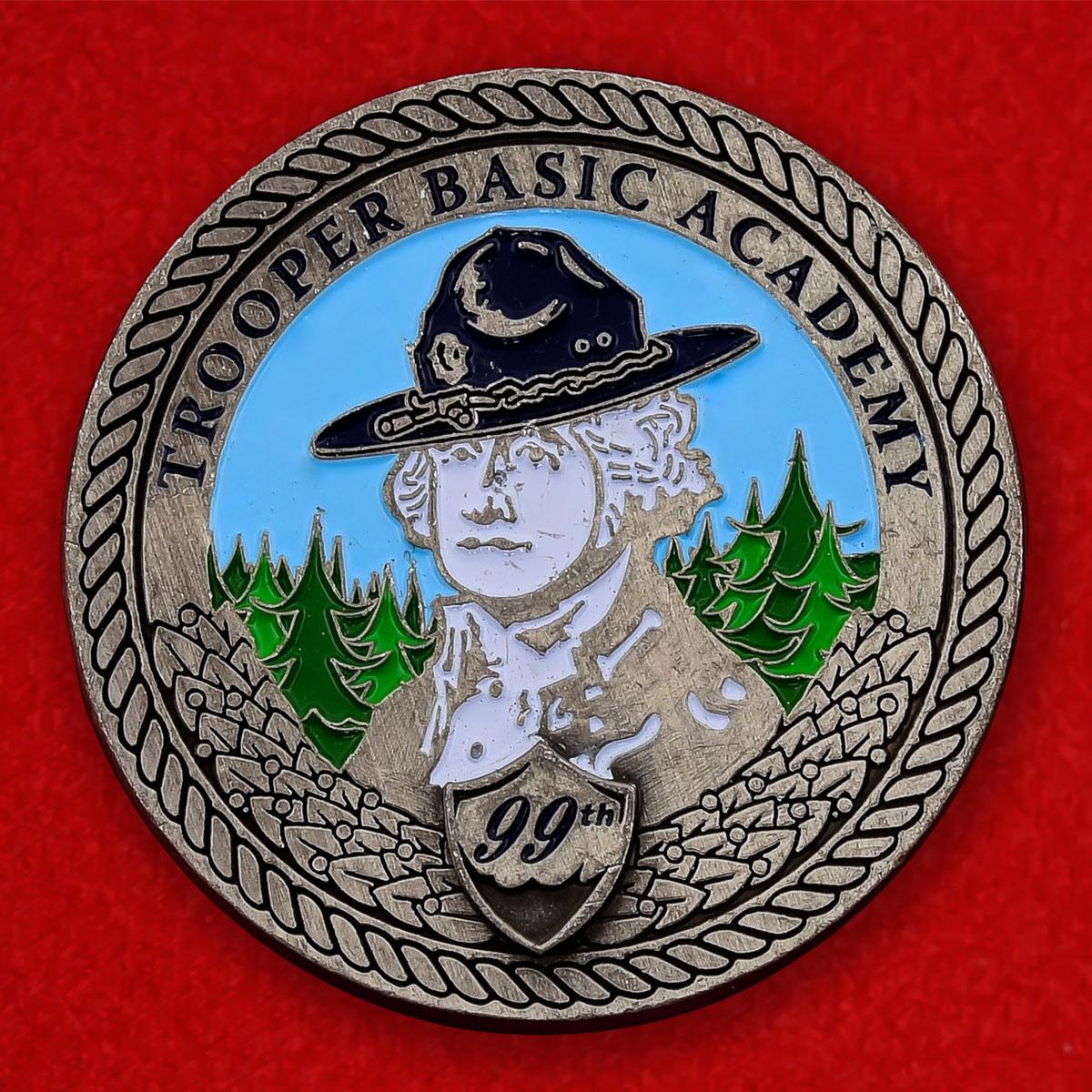 Памятная монета Академии базовой подготовки полицейского патруля