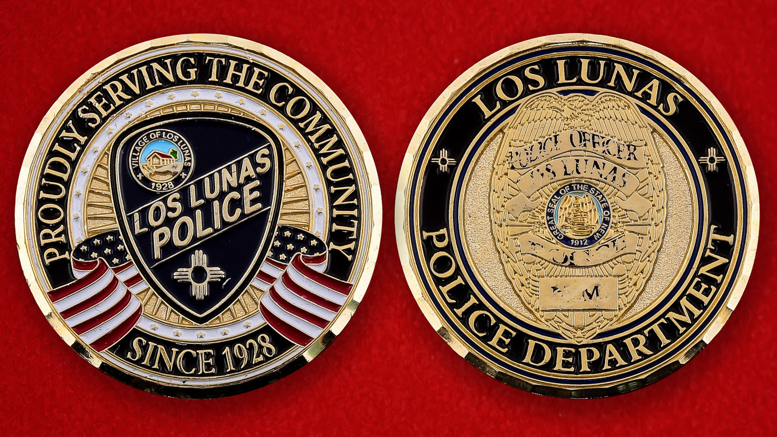 """Памятная монета """"Департамент полиции Лос-Лунаса, штат Нью-Мексико"""""""