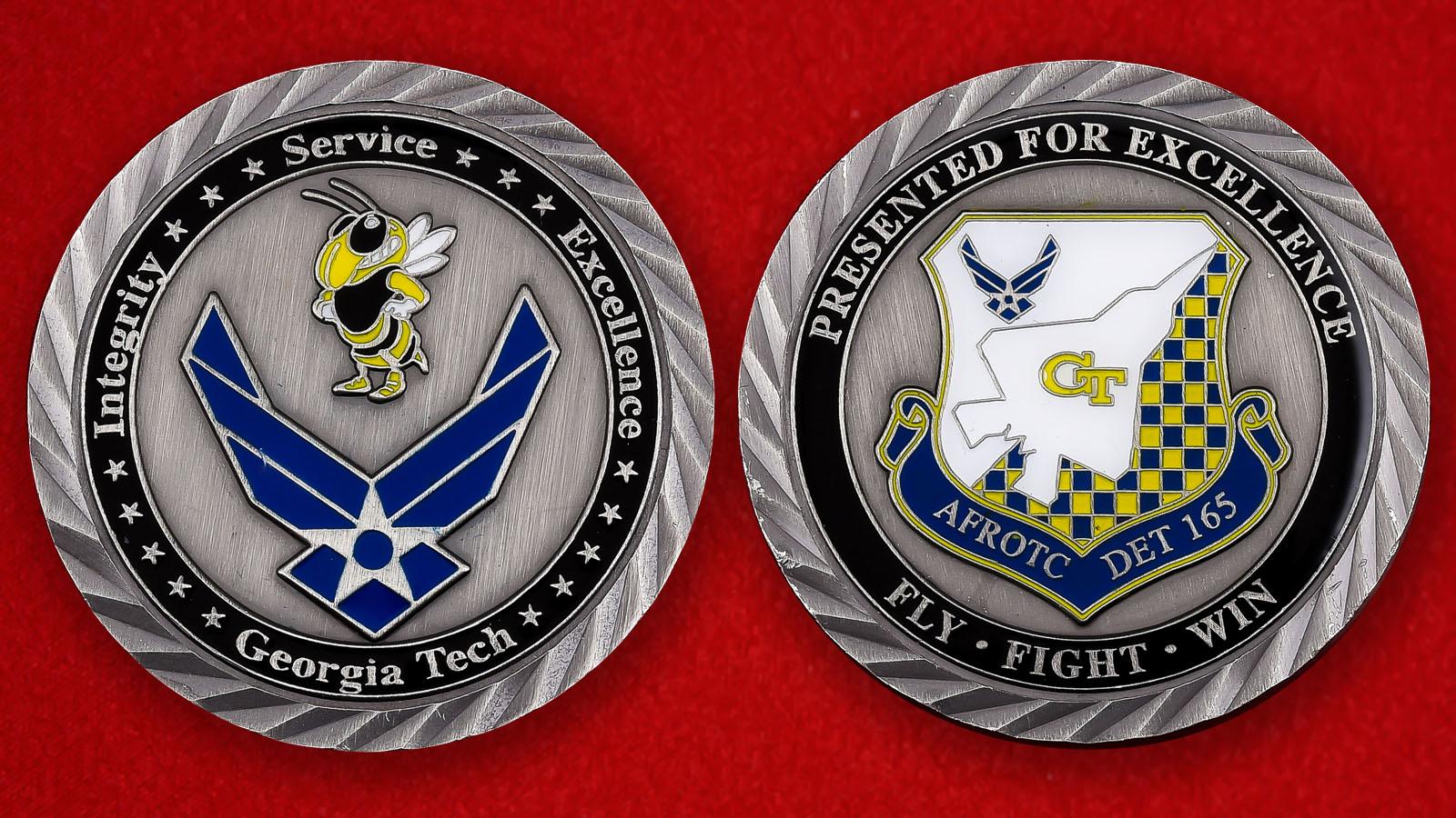 """Памятная монета Колледжа ВВС США при Технологическом институте Джорджии """"DET-165"""""""