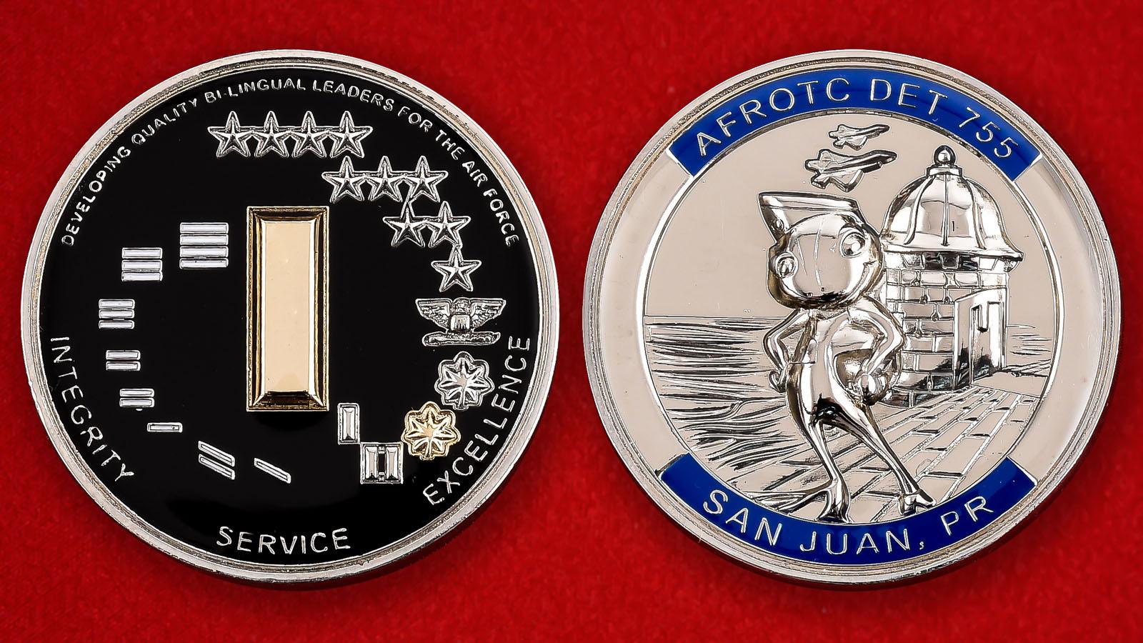 "Памятная монета Колледжа ВВС США в Сан-Хуане, Пуэрто-Рико ""DET 755"""