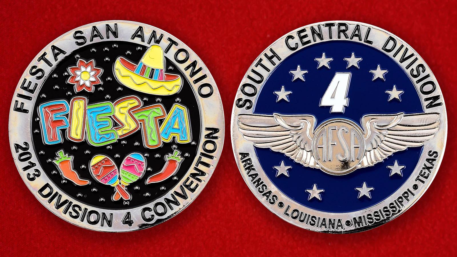"""Памятная монета """"Праздник 4 Отдела ассоциации сержантов ВВС США в Сан-Антонио"""""""