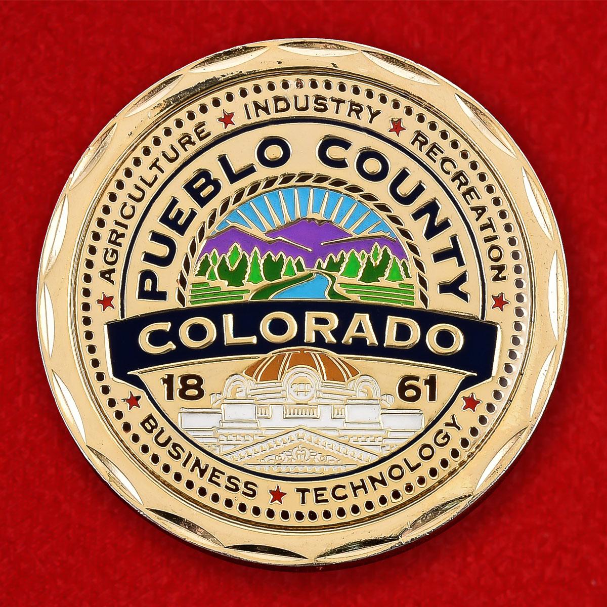 """Памятная монета США """"Округ Пуэбло, штат Колорадо"""""""