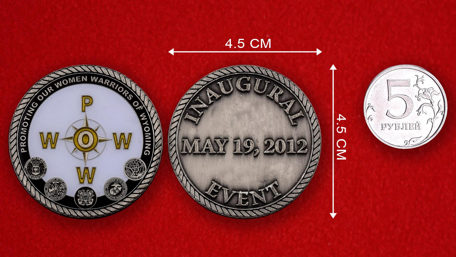 """Памятная монета США """"Первая конференция женщин-военнослужащих в Вайоминге"""""""