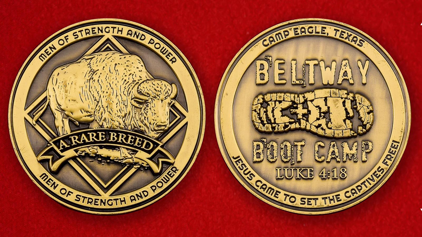"""Памятная монета """"Туристический лагерь Eagle в Техасе"""""""