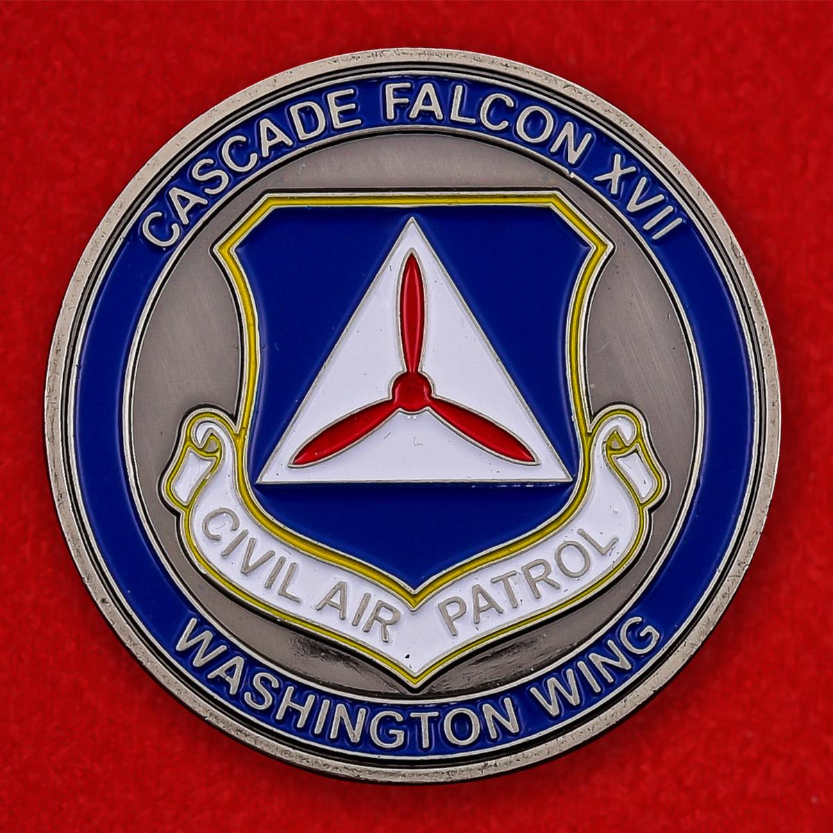 """Памятная монета """"Патруль гражданской авиации штата Вашингтон"""""""