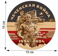 """Памятная наклейка в виде медали """"Чеченская война"""""""