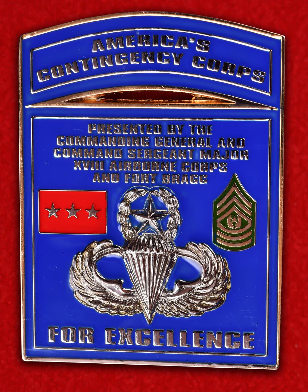 """Военный знак США """"18-ый воздушно-десантный корпус"""""""
