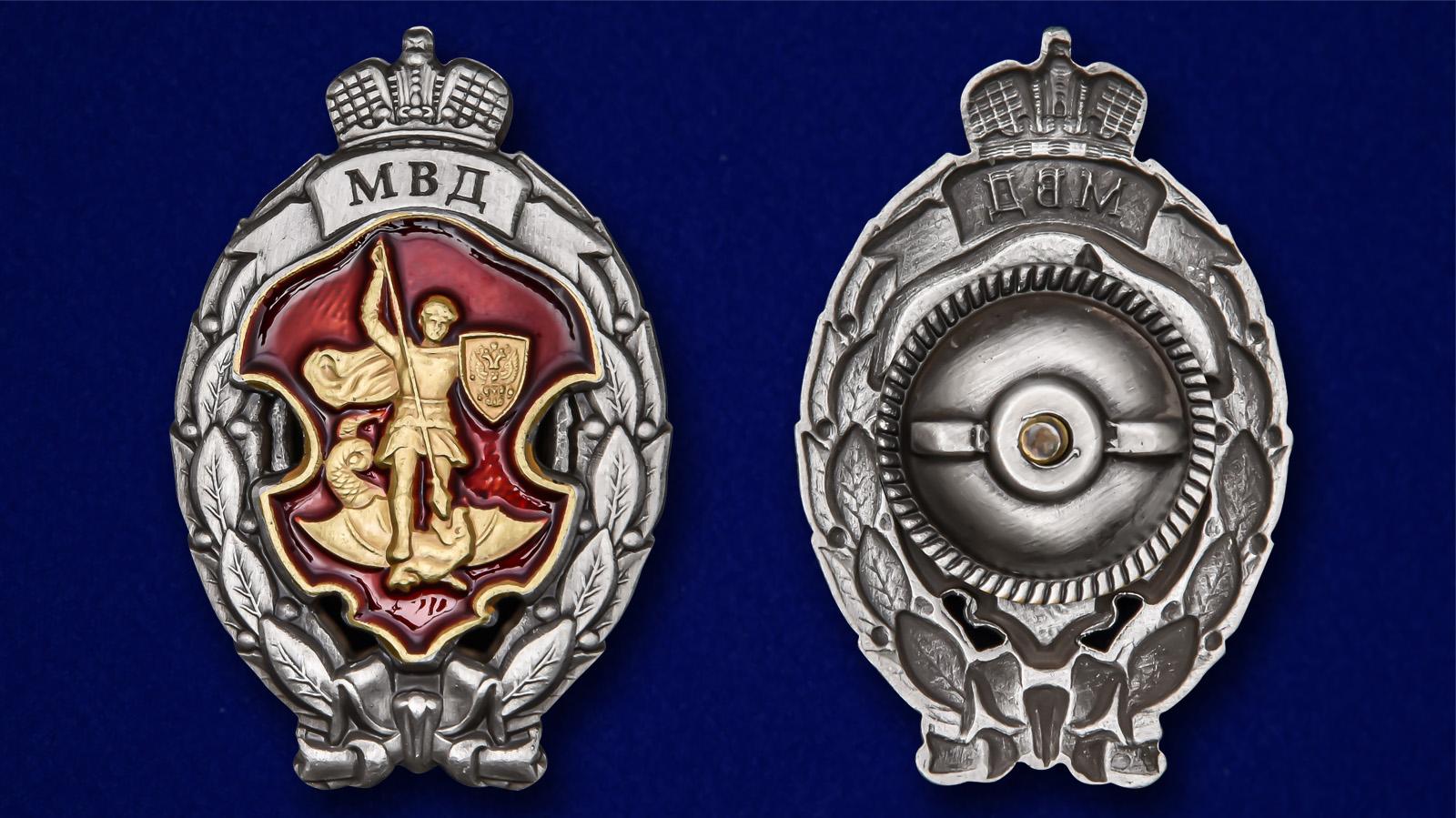 Памятный знак МВД Лучший сотрудник специальных подразделений полиции - аверс и реверс