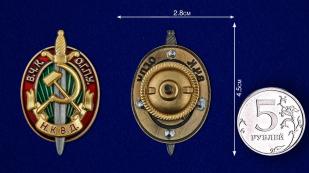 Памятный знак ВЧК-ОГПУ-НКВД - размер