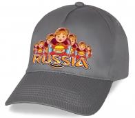 Патриотическая бейсболка с авторским принтом Russia «Русские матрешки». Такой сувенир на Вашей голове будет напоминать окружающим, что Вы - патриот своей страны!