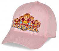 Патриотическая кепка «Russia» с крутым ярким принтом «Матрешки с хлебом и солью» отменный сувенир всем родным и близким. Успей заказать, количество ограничено!