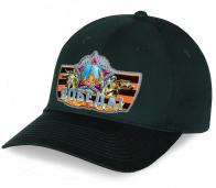 Патриотическая кепка с авторским принтом Ордена Победы на фоне георгиевской ленточки. Стильная и креативная модель по самой выгодной цене, покупай не раздумывай!