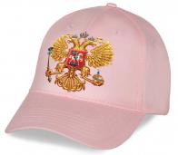 Патриотическая кепка с золотым гербом Российской Федерации новомодная модель по самой привлекательной цене. Купи, носи, и пусть все видят, что ты патриот!