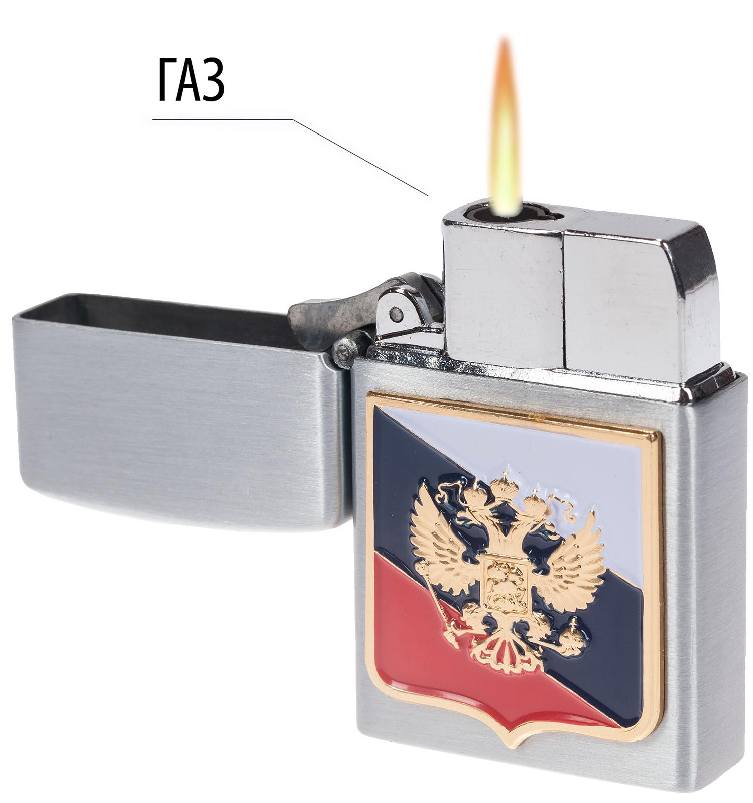 """Патриотическая откидная зажигалка """"Россия"""""""