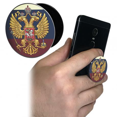 Патриотический держатель для телефона с гербом России