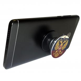 Купить патриотический держатель для телефона с гербом России