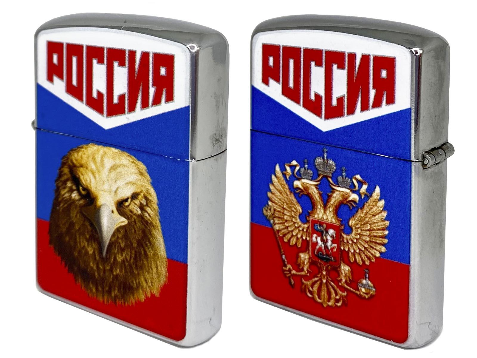 Патриотическая зажигалка Россия