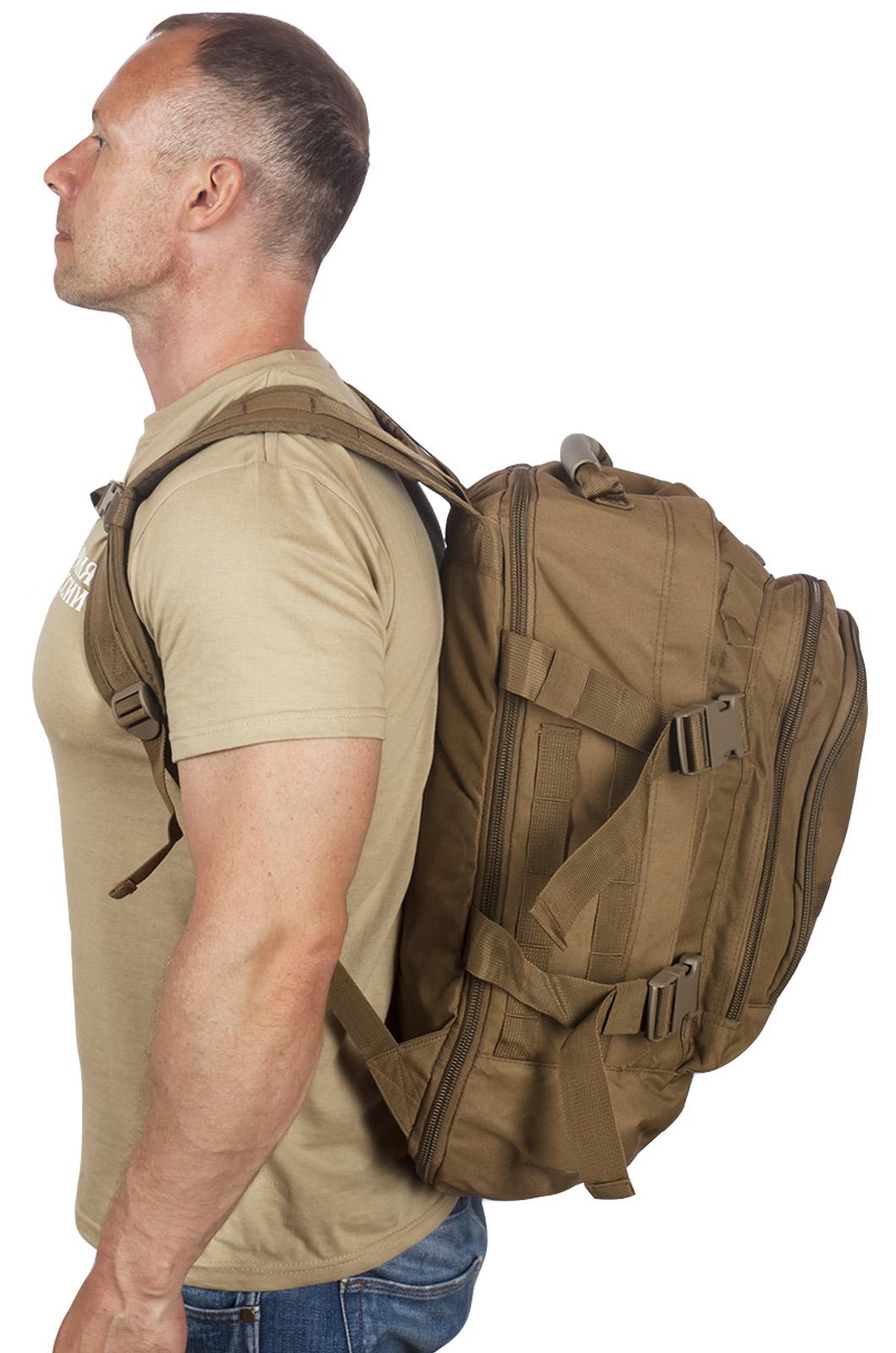 Мужской военный рюкзак с нашивкой Пограничной службы - заказать оптом