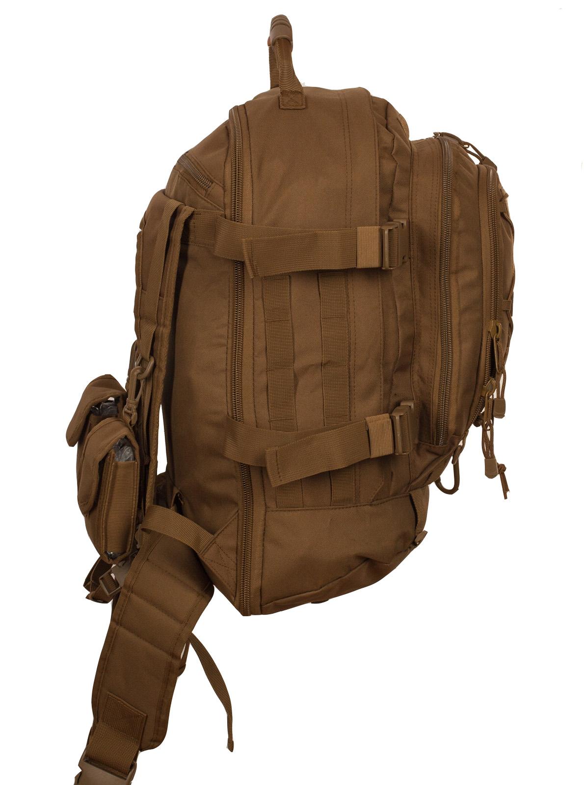 """Патрульный трехдневный рюкзак 3-Day Expandable Backpack 08002B Coyote с эмблемой """"Россия"""" оптом в Военпро оптом в Военпро"""