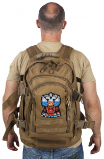 """Патрульный трехдневный рюкзак 3-Day Expandable Backpack 08002B Coyote с эмблемой """"Россия"""""""
