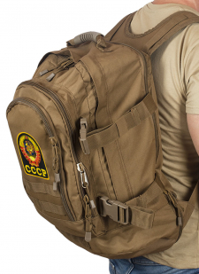 Патрульный трехдневный рюкзак 3-Day Expandable Backpack 08002B Coyote с эмблемой СССР
