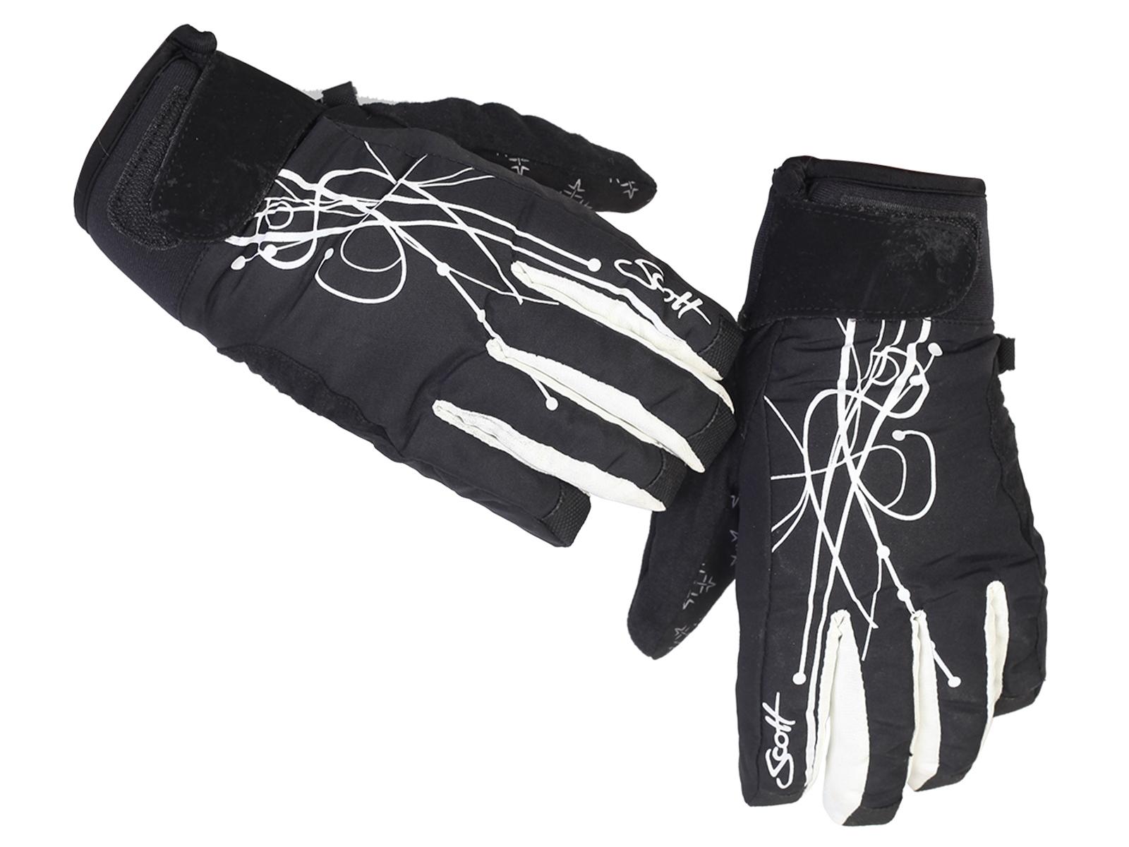 Теплые перчатки с короткими манжетами на липучке