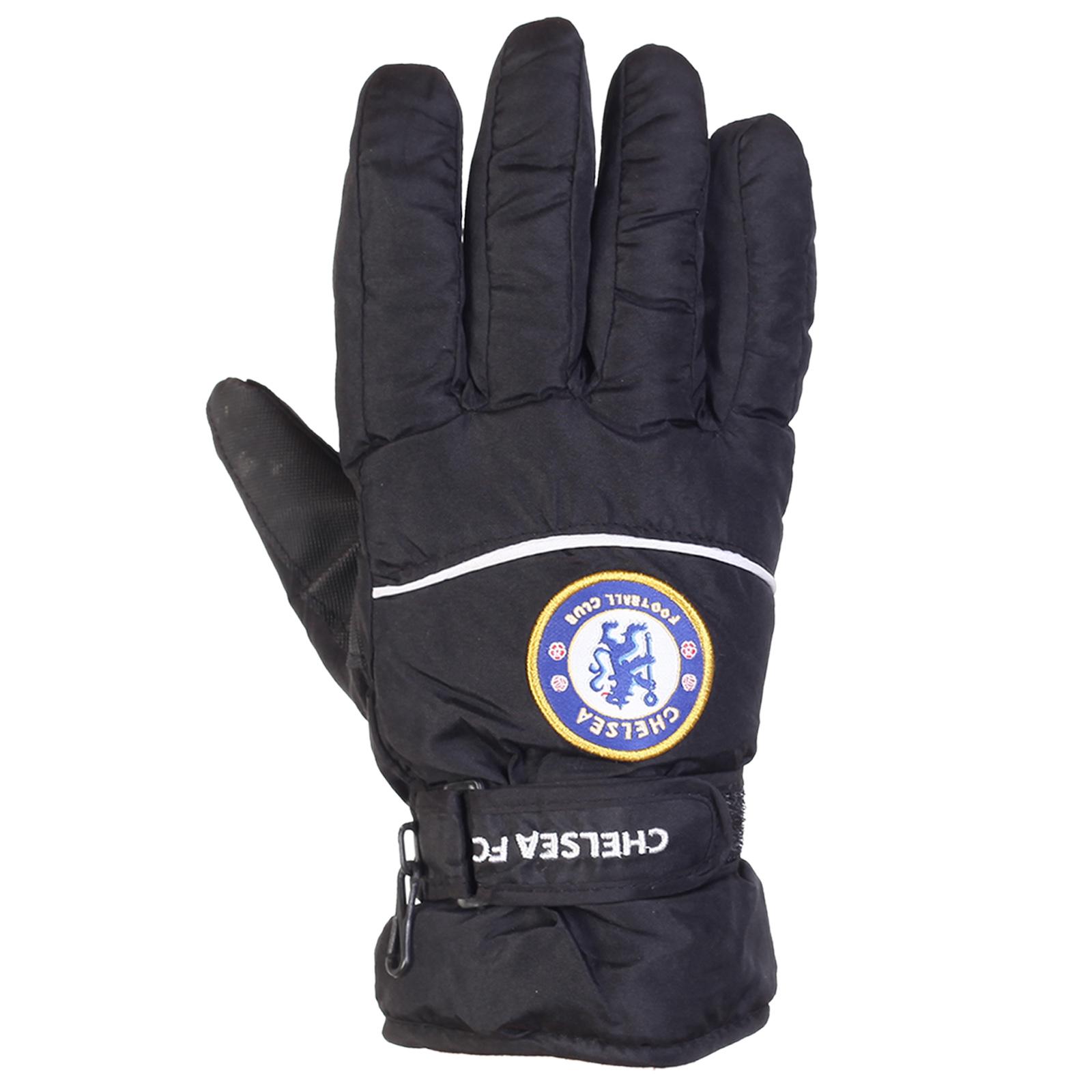 Черные зимние перчатки Chelsea FC для парней и мужчин