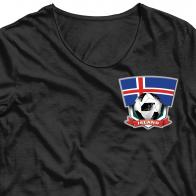 """Переводная картинка на футболку """"Сборная команда Исландии""""."""