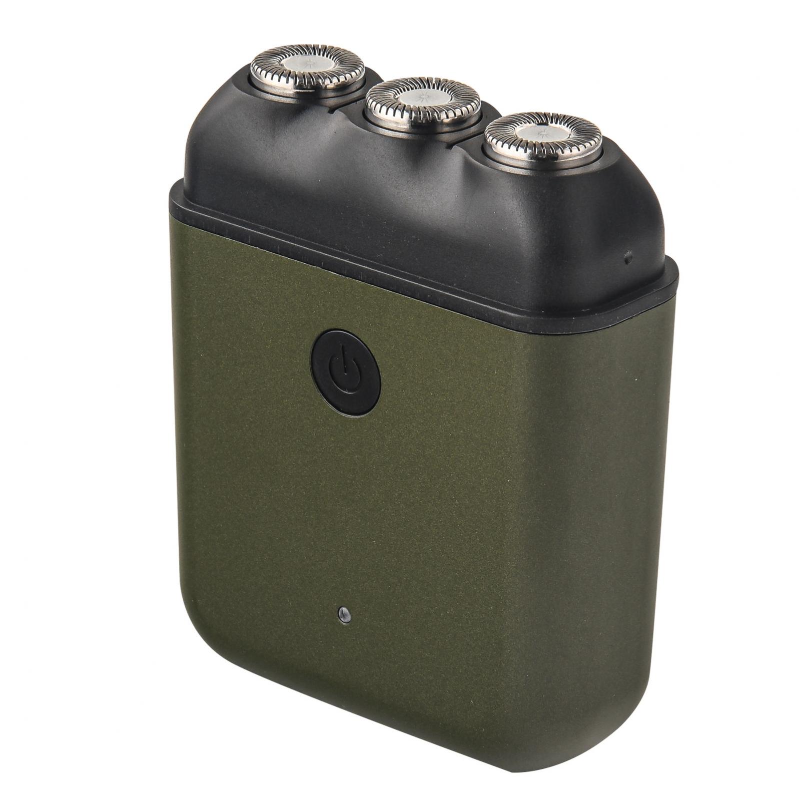Перезаряжаемая по USB электробритва (олива)