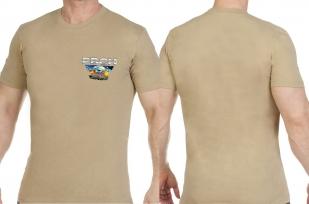 Песочная оригинальная футболка РВСН - купить оптом