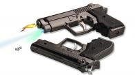 Пистолет зажигалка с фонариком