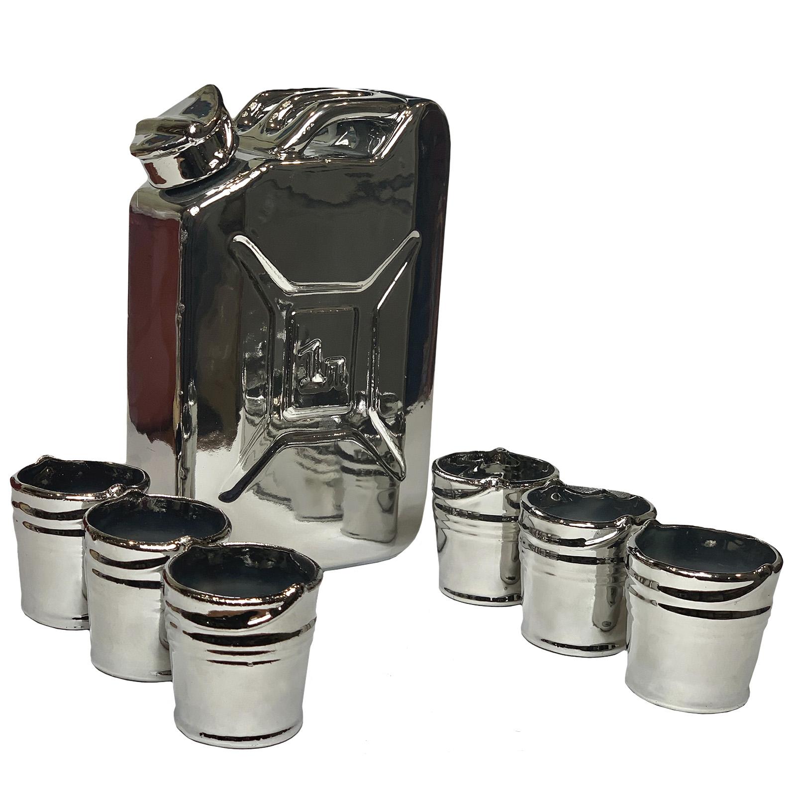 Подарочный питейный VIP набор Канистра штоф и  6 стопок