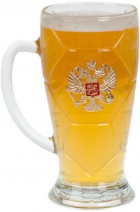 Пивная кружка с российским гербом
