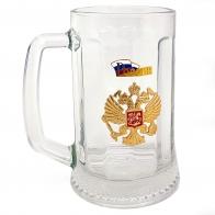 Подарочная пивная кружка с гербом России