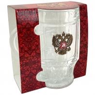 Пивная кружка с гербом РФ