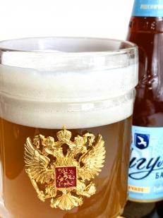 Пивной бокал Герб России